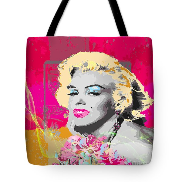 Tote Bag featuring the digital art Goodbye Norma Jean  by Eleni Mac Synodinos