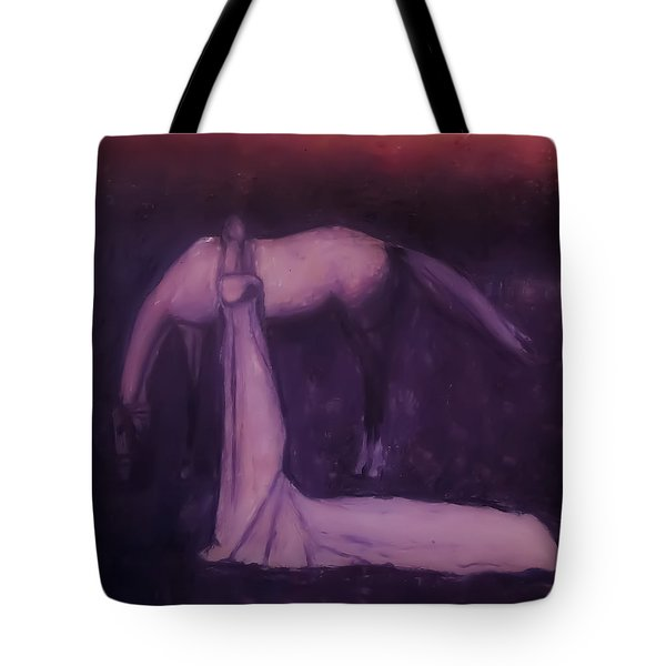 Tote Bag featuring the painting Goodbye Purple Rain by Jarko Aka Lui Grande