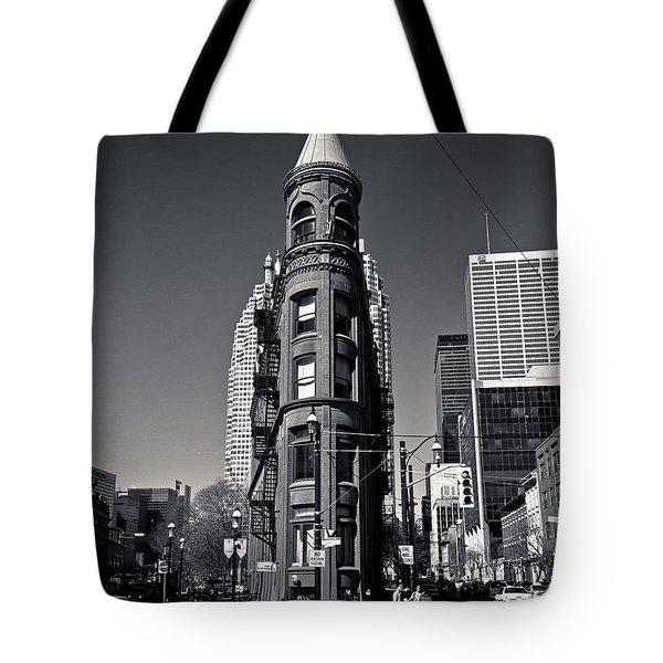 Tote Bag featuring the photograph Gooderham Flatiron Building Toronto Canada by Brian Carson