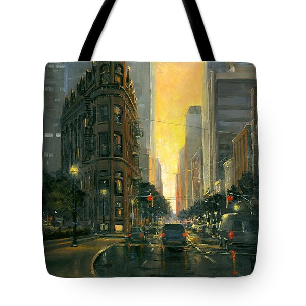Gooderham Sunset Tote Bag by Michael Swanson