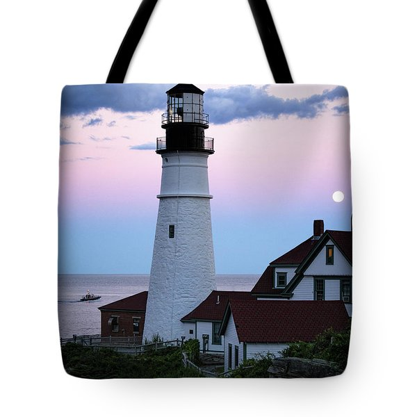 Goodnight Moon, Goodnight Lighthouse  -98588 Tote Bag