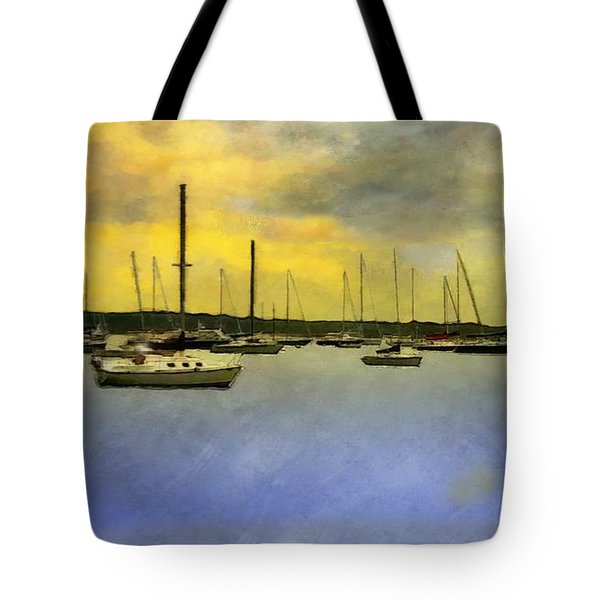 Goodnight, Nantucket Tote Bag by RC deWinter