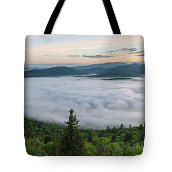 Goodnow Mountain Panorama Tote Bag