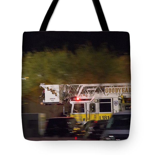 Tote Bag featuring the photograph Goodyear Arizona Fire Truck 3 by Carolina Liechtenstein