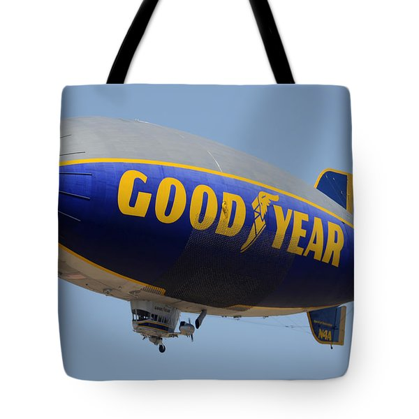 Goodyear Blimp Spirit Of Innovation Goodyear Arizona September 13 2015 Tote Bag