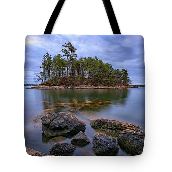 Tote Bag featuring the photograph Googins Island by Rick Berk