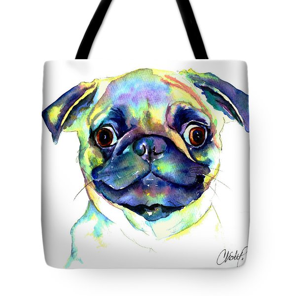 Google Eyed Pug Tote Bag