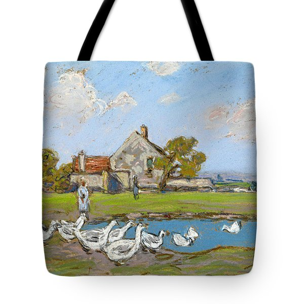 Goose Girl At Sablons Tote Bag