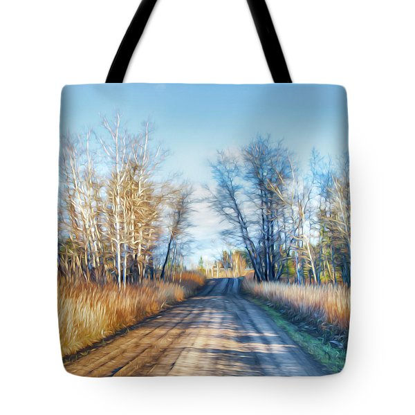 Tote Bag featuring the photograph Goose Lake Road by Theresa Tahara