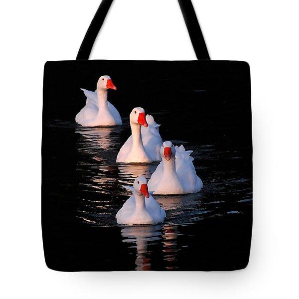 Goose Parade Tote Bag