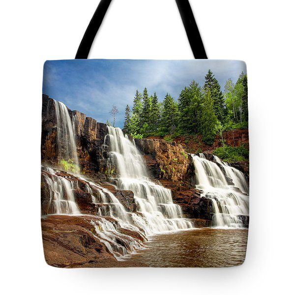 Tote Bag featuring the photograph Gooseberry Falls by Rikk Flohr