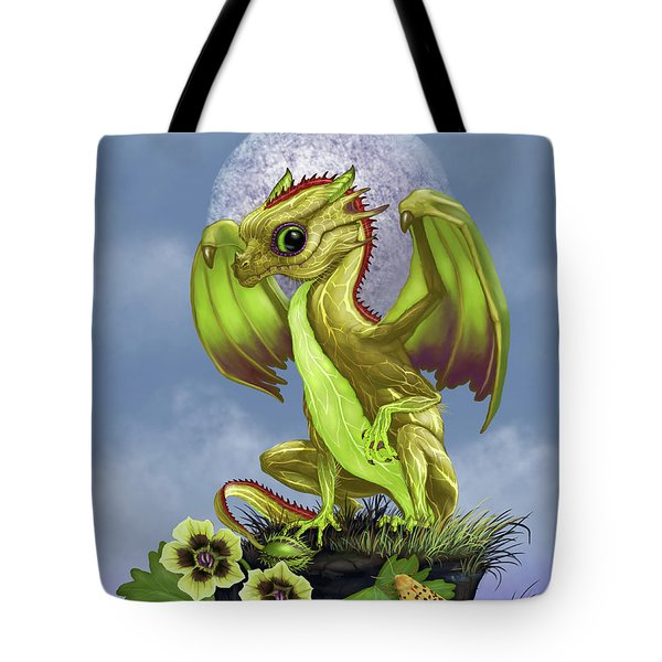 Tote Bag featuring the digital art Gooseberry Dragon by Stanley Morrison