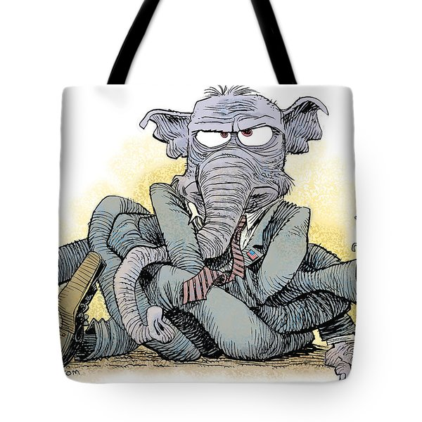 Gop Tied Up In A Knot Tote Bag