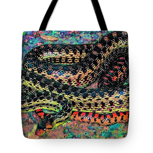 Gopher Snake Tote Bag by Pamela Cooper