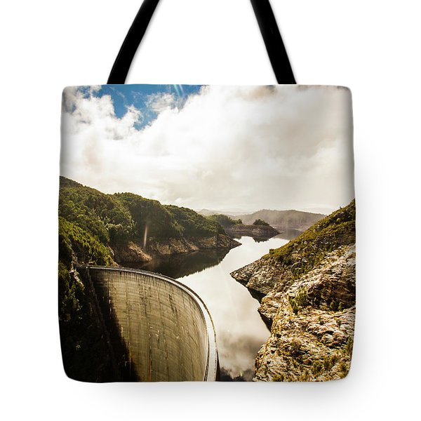 Gordon Dam Tasmania  Tote Bag