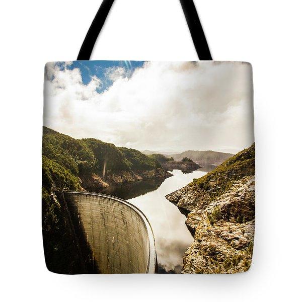 Gordon Dam Tasmania  Tote Bag