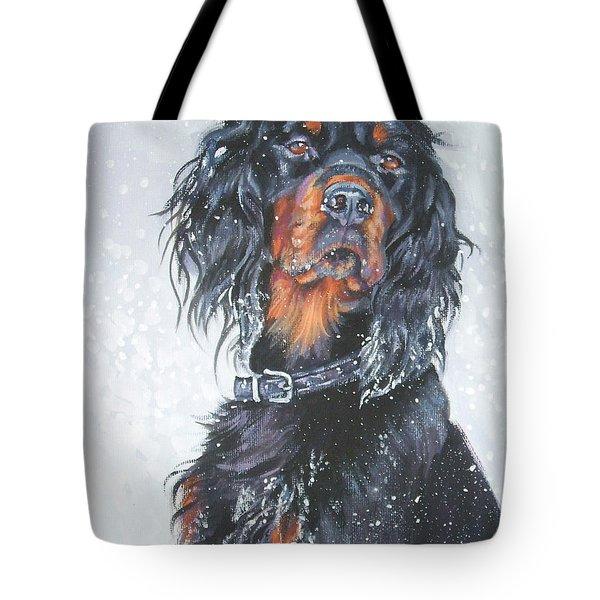 Gordon Setter In Snow Tote Bag