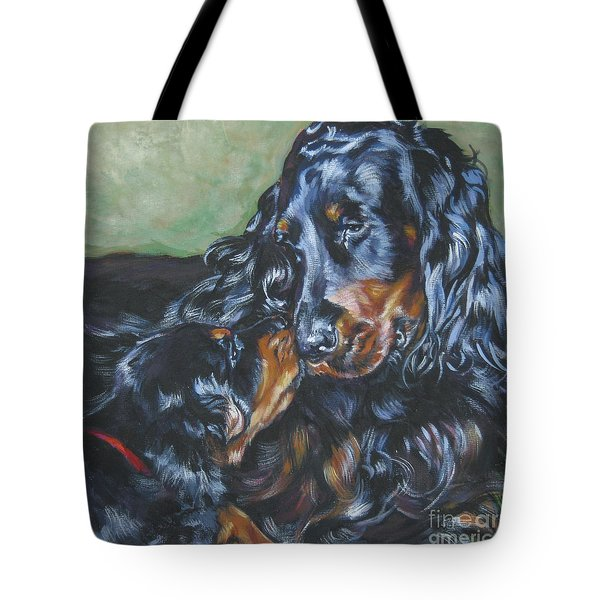 Gordon Setter Mom And Pup Tote Bag