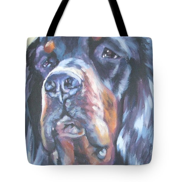 Gordon Setter Portrait Tote Bag