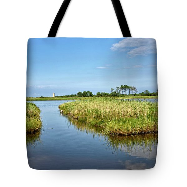 Tote Bag featuring the photograph Gordons Pond - Cape Henlopen Park - Delaware by Brendan Reals