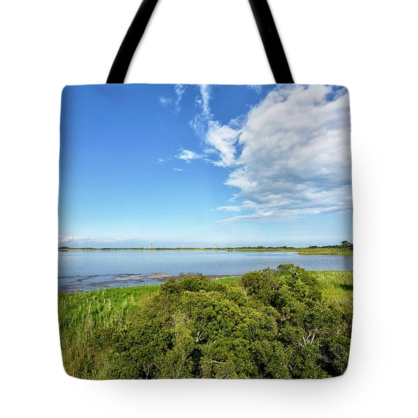 Tote Bag featuring the photograph Gordons Pond Overlook - Cape Henlopen State Park - Delaware by Brendan Reals