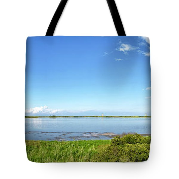 Tote Bag featuring the photograph Gordons Pond Panorama - Cape Henlopen State Park - Delaware by Brendan Reals