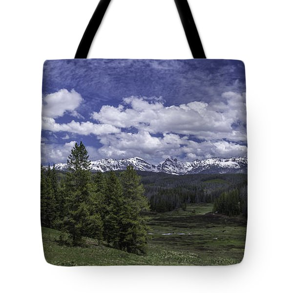 Tote Bag featuring the photograph Gore Range by Bitter Buffalo Photography