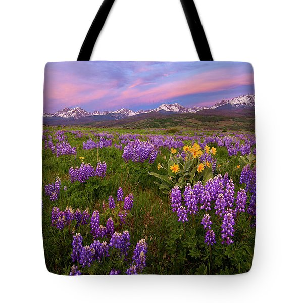 Gore Range Sunrise Tote Bag by Aaron Spong