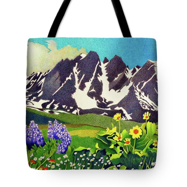 Gore Range Wildflowers Tote Bag