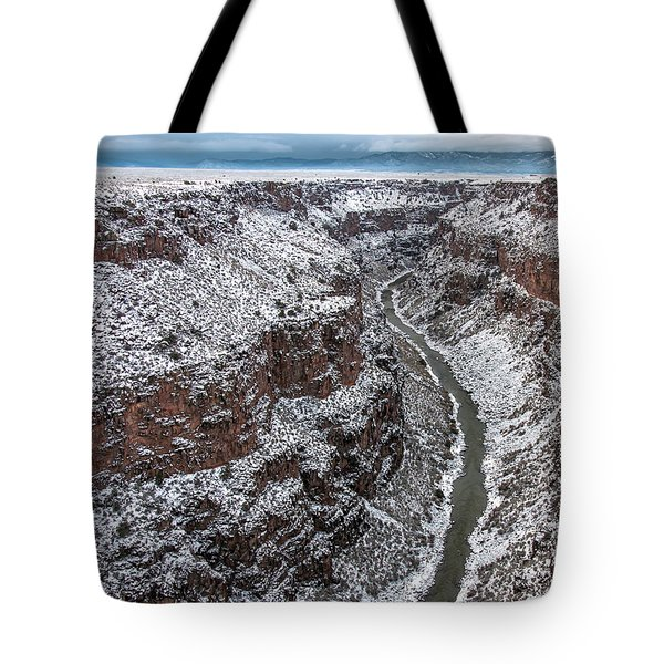 Tote Bag featuring the photograph Gorge In Snow by Britt Runyon
