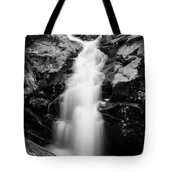 Gorge Waterfall In Black And White Tote Bag
