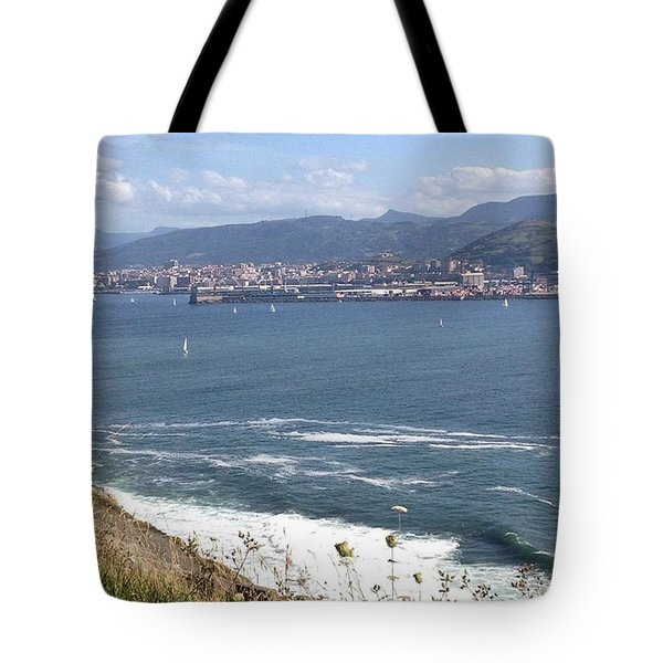 Gorgeous Day For A Walk Along The Coast Tote Bag