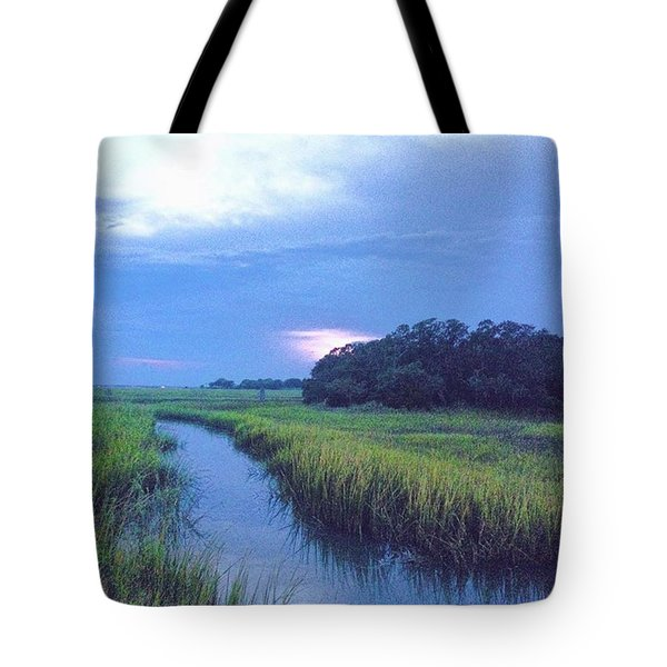 Gorgeous Evening On The Marsh Before Tote Bag