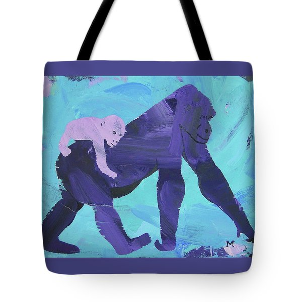 Tote Bag featuring the painting Gorgeous Gorilla by Candace Shrope