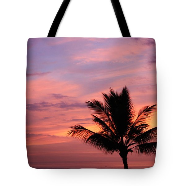 Tote Bag featuring the photograph Gorgeous Hawaiian Sunset - 1 by Karen Nicholson