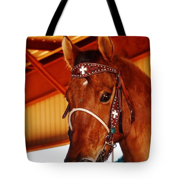 Gorgeous Horse And Bridle Tote Bag