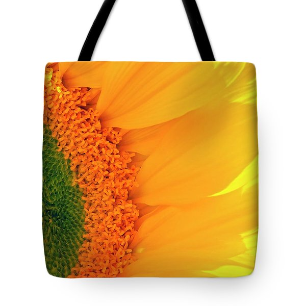 Gorgeous Sunflower Macro Tote Bag