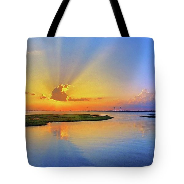 Gorgeous Sunset Tonight Over Tote Bag