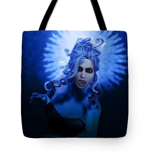 Gorgon Blue Tote Bag by Joaquin Abella