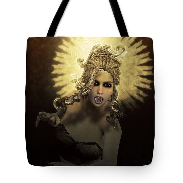 Gorgon Medusa Tote Bag by Joaquin Abella