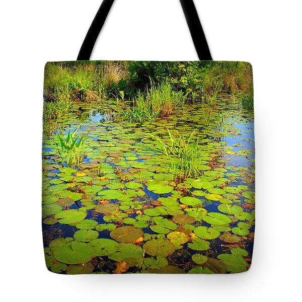 Gorham Pond Lily Pads Tote Bag