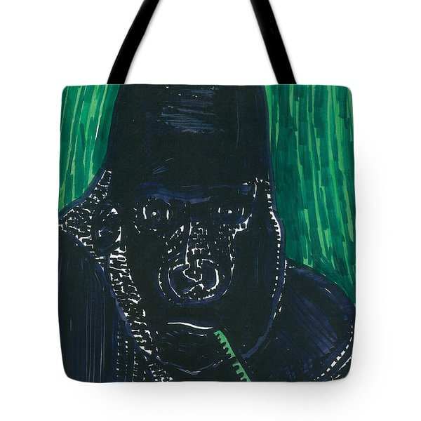 Tote Bag featuring the painting Gorilla by Don Koester