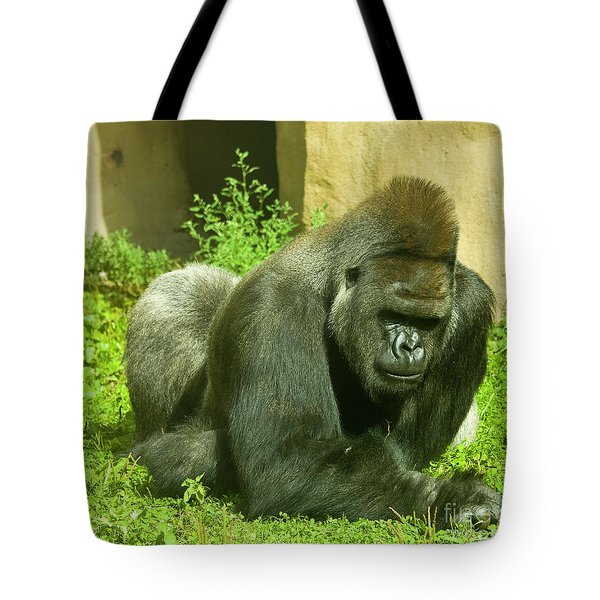 Gorilla Tote Bag by Irina Afonskaya