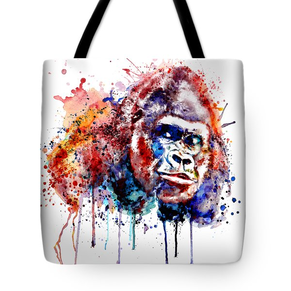 Tote Bag featuring the mixed media Gorilla by Marian Voicu