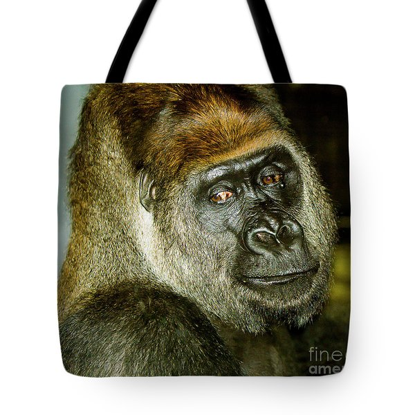 Tote Bag featuring the photograph Gorilla by Michael D Miller