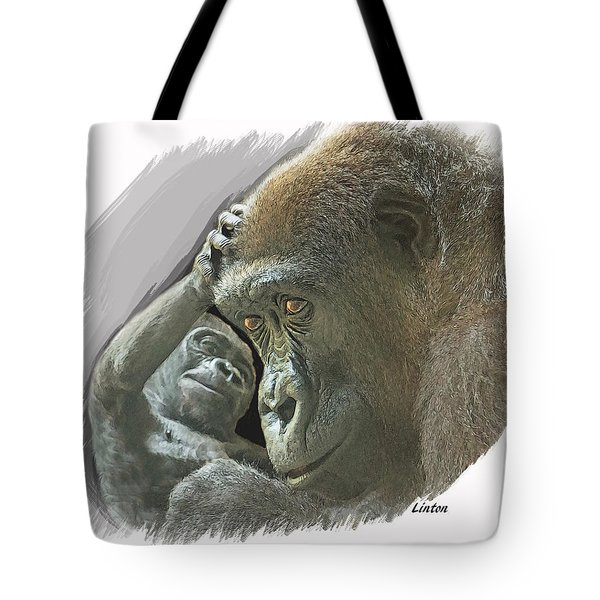 Gorilla Mother Tote Bag