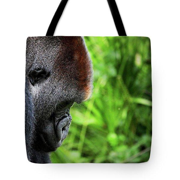 Gorilla Portrait Tote Bag by Dan Pearce