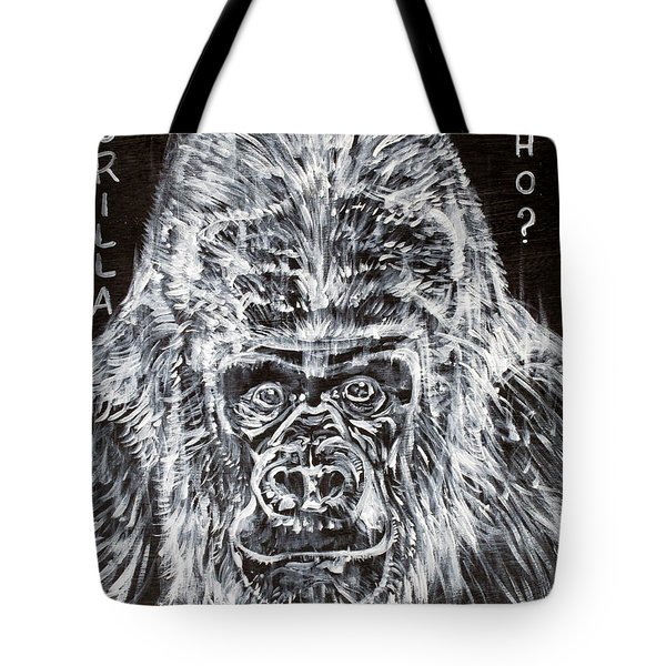 Tote Bag featuring the painting Gorilla Who? by Fabrizio Cassetta