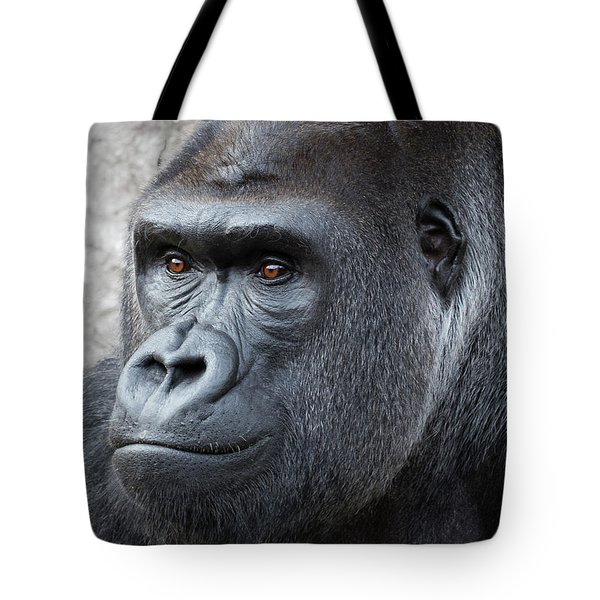 Tote Bag featuring the photograph Gorillas In The Mist by Robert Bellomy