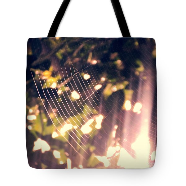 Tote Bag featuring the photograph Gossamer Glow by Megan Dirsa-DuBois